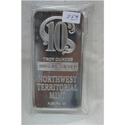 Silver Bar - Ten Troy Ounces (no GST)