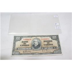 Canada One Hundred Dollar Bill (1)