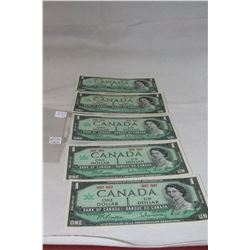 Canada One Dollar Bill (5)