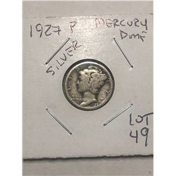 1937 P Early Mercury Silver Dime