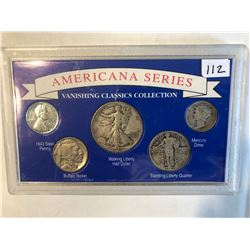 Americana Series Silver US Standing Walking Coin Collection 1943 Walking Liberty