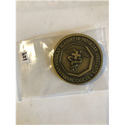 RARE Challage Coin PHYSICIAN ARMY ASSISTANT Presented by General