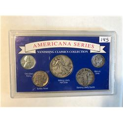 Americana Series Silver US Vanishing Classics Coin Collection 1943 Walking Liberty
