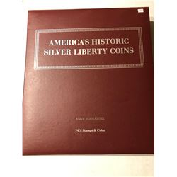American Silver Liberty Coins Binder with Sheets Like New