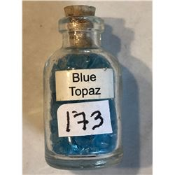 Glass Jar Filled with BLUE TOPAZ Gemstones 25 Grams