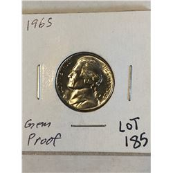 1965 GEM PROOF Jefferson Nickel