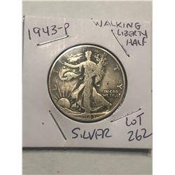 1943 P Silver Walking Liberty Half Dollar