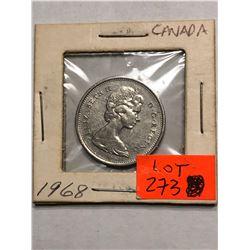 1968 Canada Quarter MS High Grade