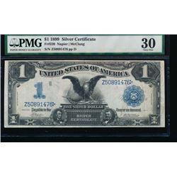 1899 $1 Black Eagle Silver Certificate PMG 30