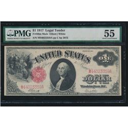 1917 $1 Legal Tender Note PMG 55