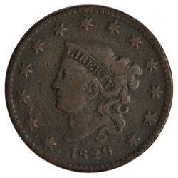 1829 Coronet Large Cent