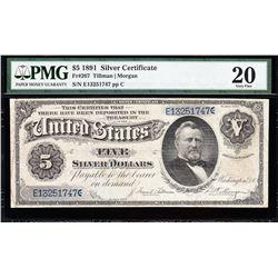 1891 $5 Silver Certificate PMG 20