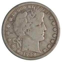 1908-O Barber Half Dollar Coin