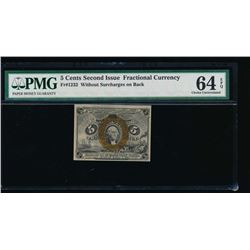 5 Cent Second Issue Fractional Note PMG 64EPQ