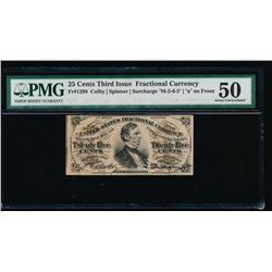 25 Cent Third Issue Fractional Note PMG 50