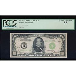 1934 $1000 New York Federal Reserve Note PCGS 55