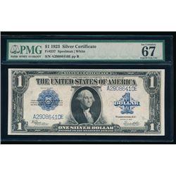 1923 $1 Silver Certificate PMG 67
