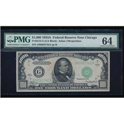 1934A $1000 Chicago Federal Reserve Note PMG 64