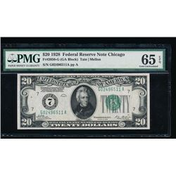 1928 $20 Chicago Federal Reserve Note PMG 65EPQ