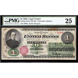 1862 $1 Legal Tender Note PMG 25