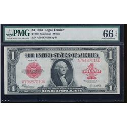 1923 $1 Legal Tender Note PMG 66EPQ