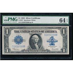 1923 $1 Silver Certificate PMG 64EPQ