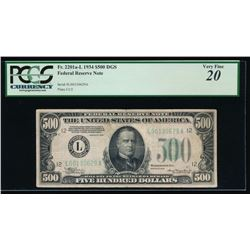 1934 $500 San Francisco Federal Reserve Note PCGS 20