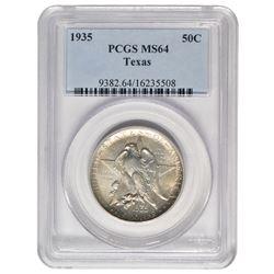 1935 Texas Commemorative Half Dollar PCGS MS64