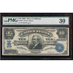 1908 $10 Silver Certificate PMG 30