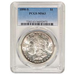 1890-S $1 Morgan Silver Dollar Coin PCGS MS63