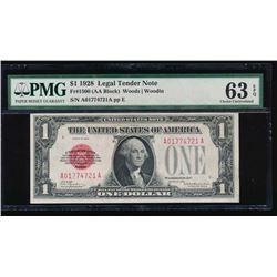 1928 $1 Legal Tender Note PMG 63EPQ