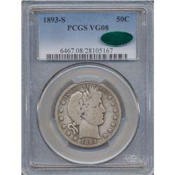1893-S Baber Half Dollar Coin PCGS VG08 CAC