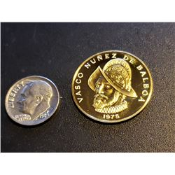 1975 Republic of Panama 100 Balboas Gold Coin