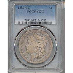 1889-CC $1 Morgan Silver Dollar Coin PCGS VG10
