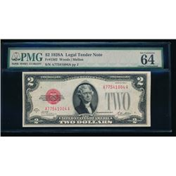 1928A $2 Legal Tender Note PMG 64