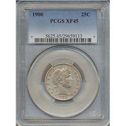 1900 Barber Quarter Coin PCGS XF45