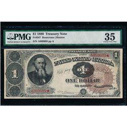 1890 $1 Treasury Note PMG 35