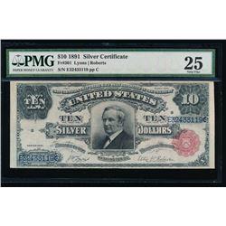 1891 $10 Silver Certificate PMG 25