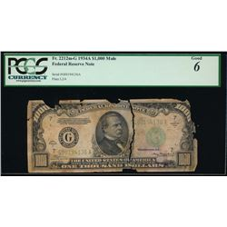 1934A $1000 Chicago Federal Reserve Note PCGS 6