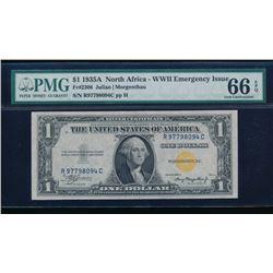 1935A $1 North Africa Silver Certificate PMG 66EPQ