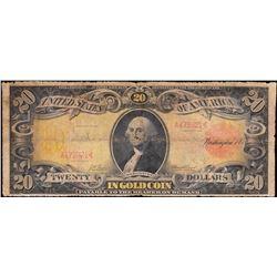 1905 $20 Technicolor Gold Certificate