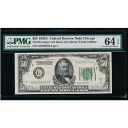 1928A $50 Chicago Federal Reserve Note PMG 64EPQ