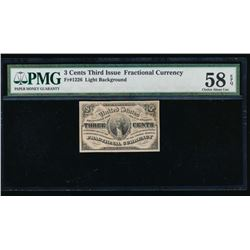 3 Cent Third Issue Fractional Note PMG 58EPQ