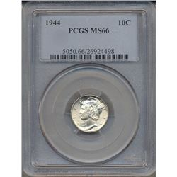 1944 Mercury Dime Coin PCGS MS66
