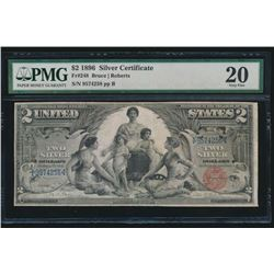 1896 $2 Educational Silver Certificate PMG 20