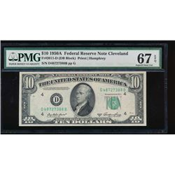 1950A $10 Cleveland Federal Reserve Note PMG 67EPQ
