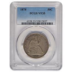 1878 Seated Liberty Half Dollar Coin PCGS VF35