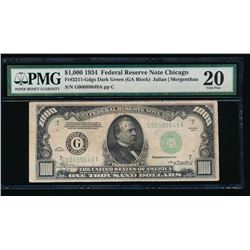 1934 $1000 Chicago Federal Reserve Note PMG 20