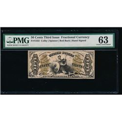 50 Cent Third Issue Fractional Note PMG 63