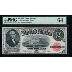 1917 $2 Legal Tender Note PMG 64